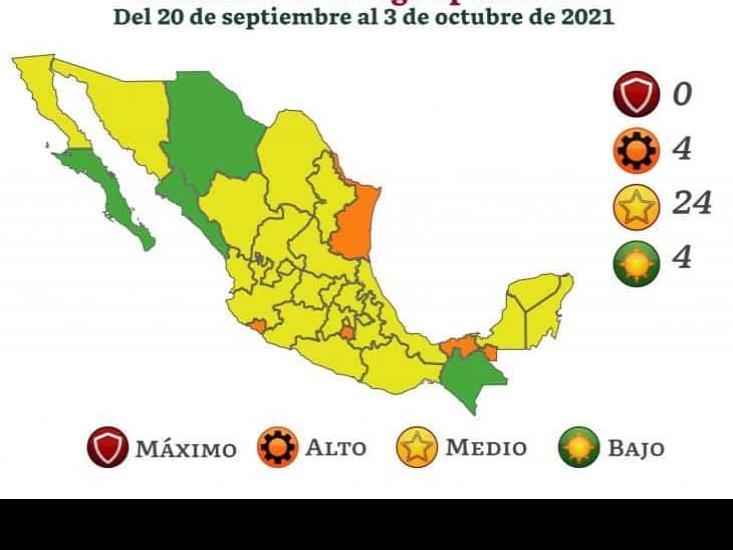 Veracruz, en semáforo covid amarillo por las próximas dos semanas
